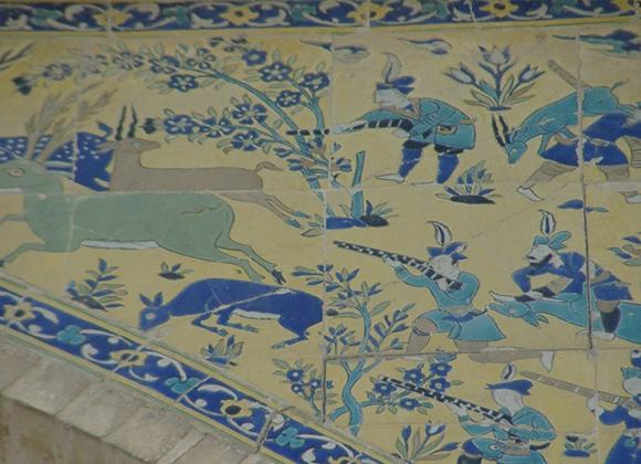 タイルに描かれた壁画